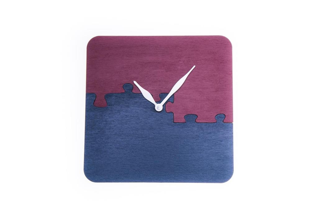 """""""Odteď spolu"""" - hodiny puzzle řemeslné ručně vyrobené"""